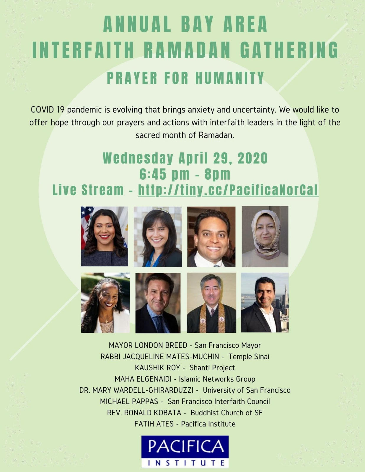 Annual Bay Area Interfaith Ramadan Gathering – Prayer For Humanity