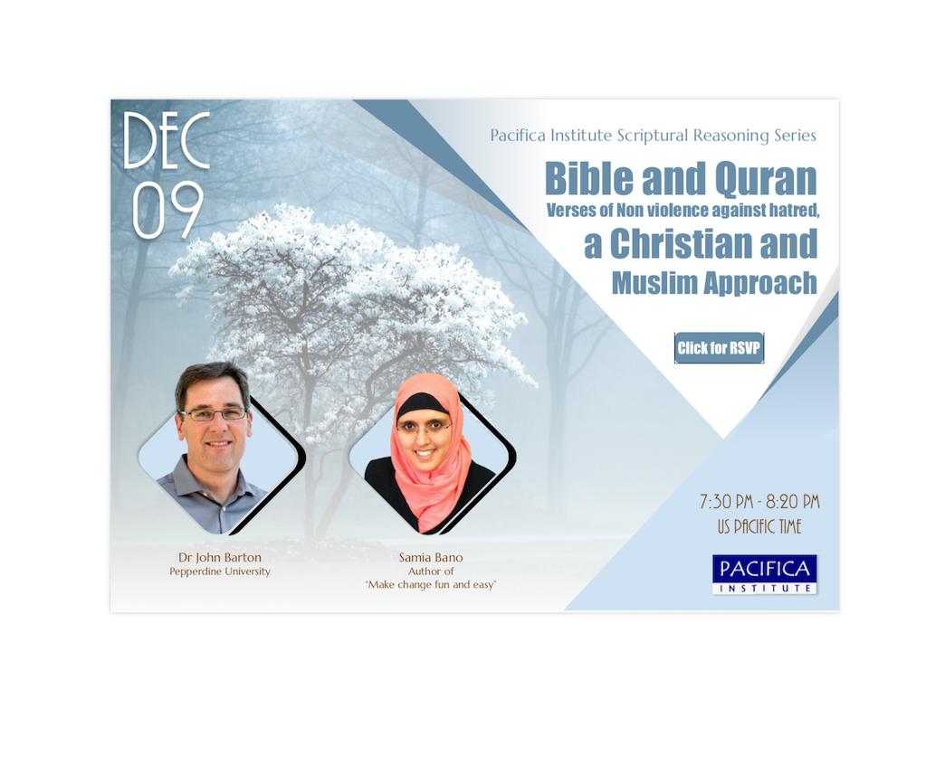 Pacifica Institute Scriptural Reasoning Series
