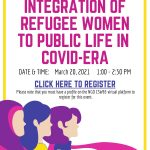 "CSW – Virtual Panel: ""Integration of Refugee Women to Public Life in COVID19-era"""